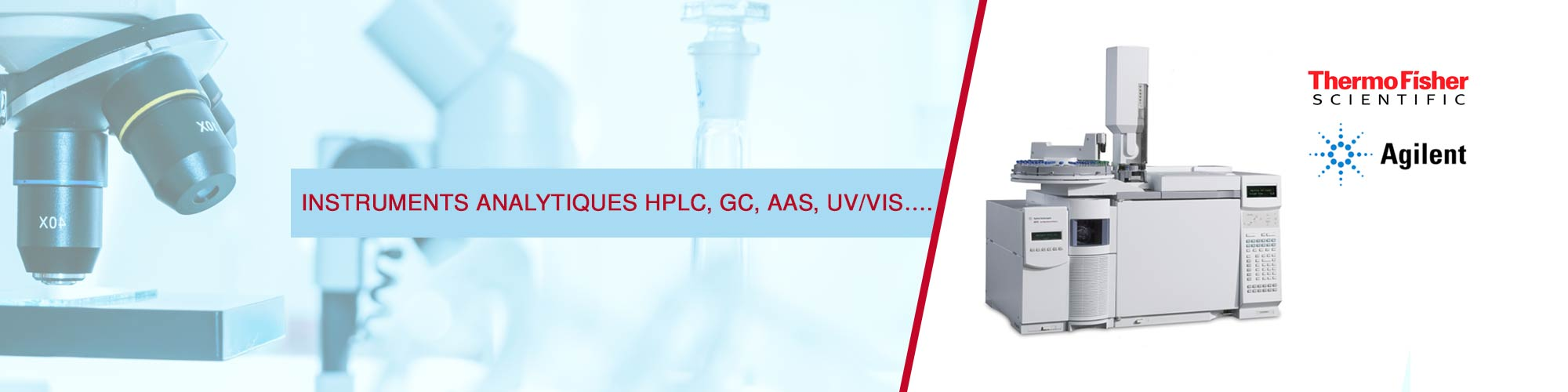 Instruments Analytiques HPLC, GC, AAS, Uv/Vis